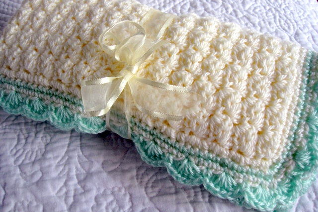 Crochet Baby Blanket Patterns Popcorn Stitch : Modern Grace Design: Baby Blanket :: Free Pattern