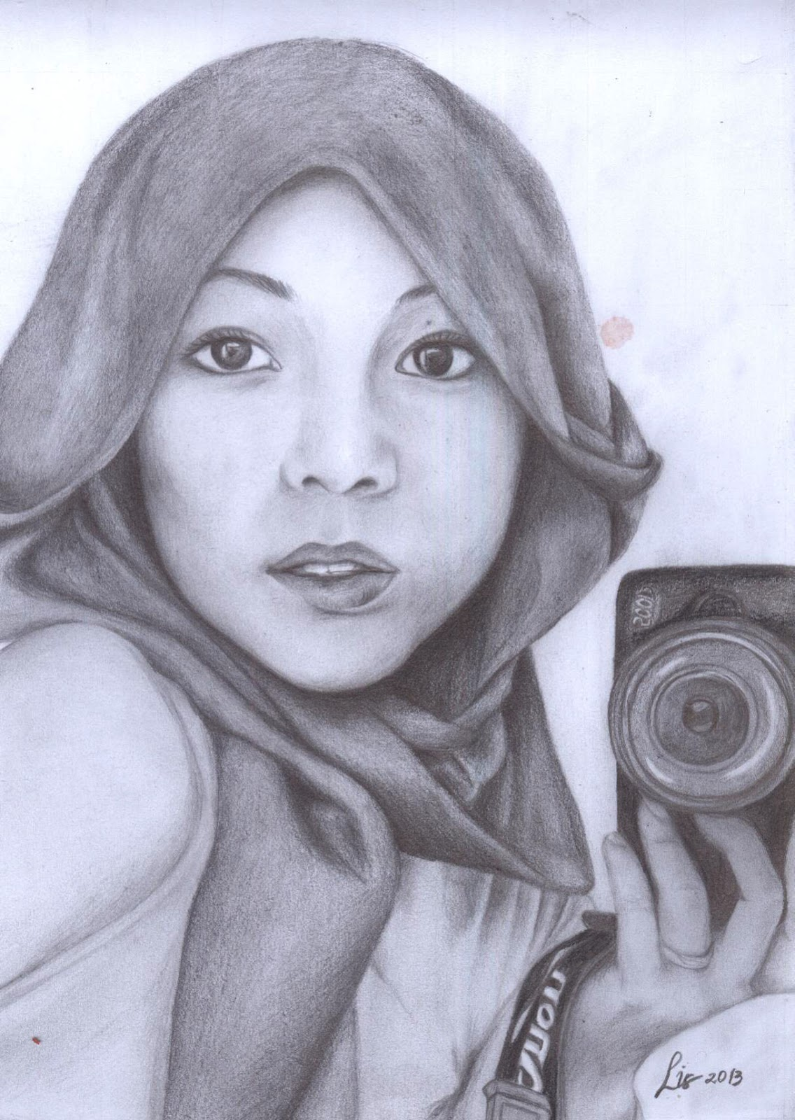 Hana Tajima By Sketsa Wajah