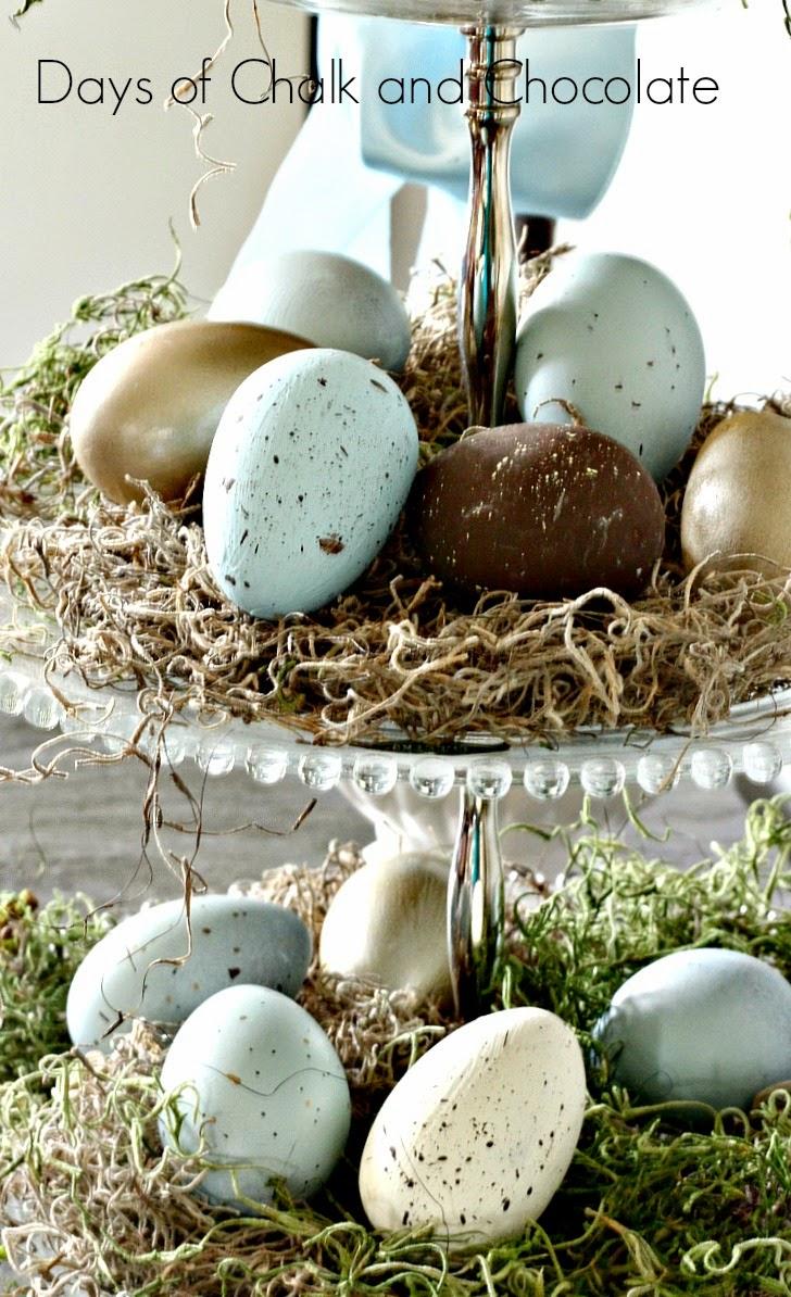 spring easter eggs vignette