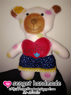 pinky bear handmade