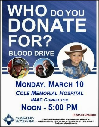 3-10 Blood Drive At Cole Memorial