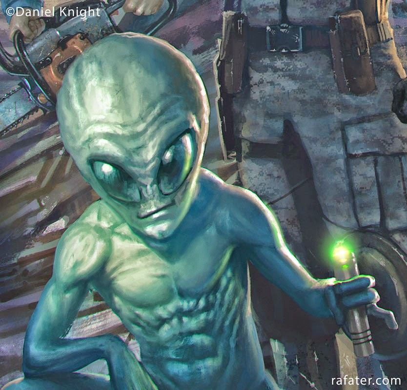 rafter cover artwork close up alien