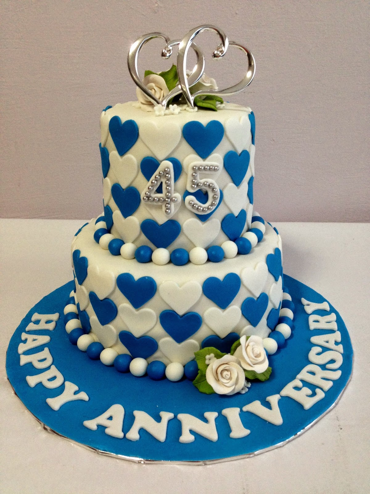Cake Ideas For 45th Wedding Anniversary : Pin Happy 45th Birthday Debbie And Many More Cake on Pinterest