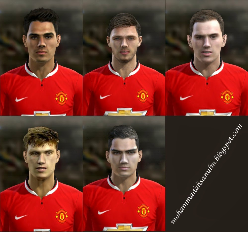 PES 2013 Manchester United Youngster Facepack by AddyJams