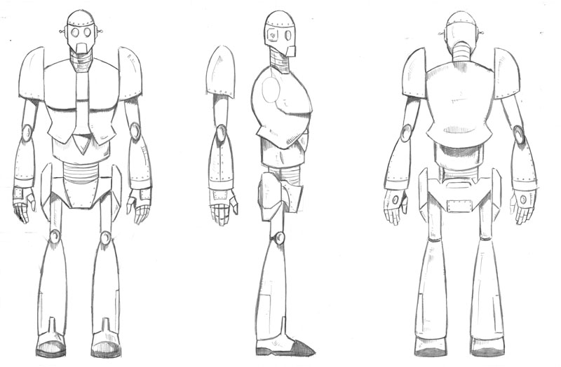 Character Design Side View : Art front and side view sketches