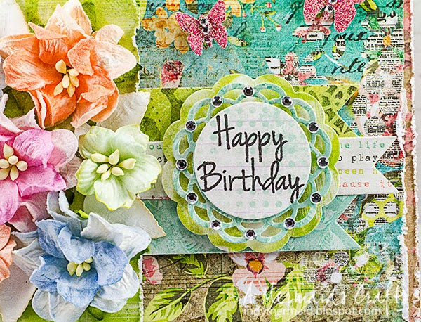 A Mermaids Crafts Colorful Happy Birthday
