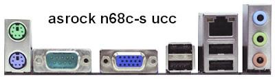 Asrock N68C-S UCC I/O