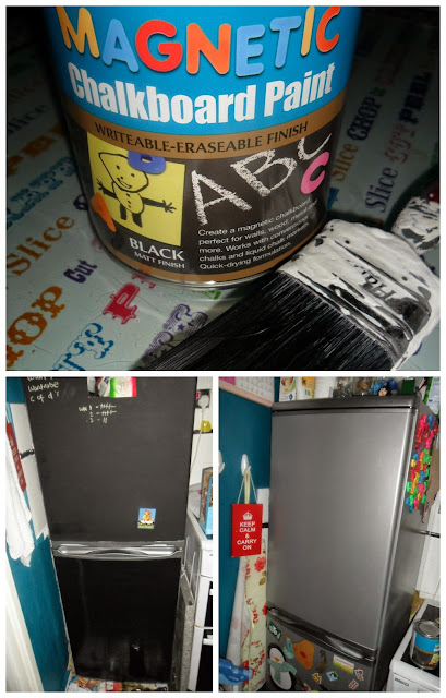 rustoleum magnetic chalkboard paint fridge