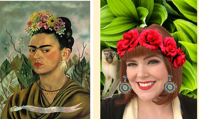 lesson plan how to create a digital frida kahlo self portrait with