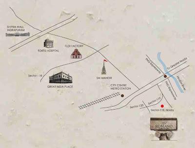 The Romano :: Location Map