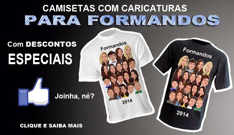 Camisetas com caricaturas de formandos