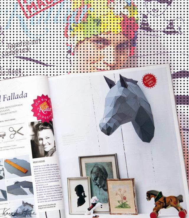 Origami 3D Pferd