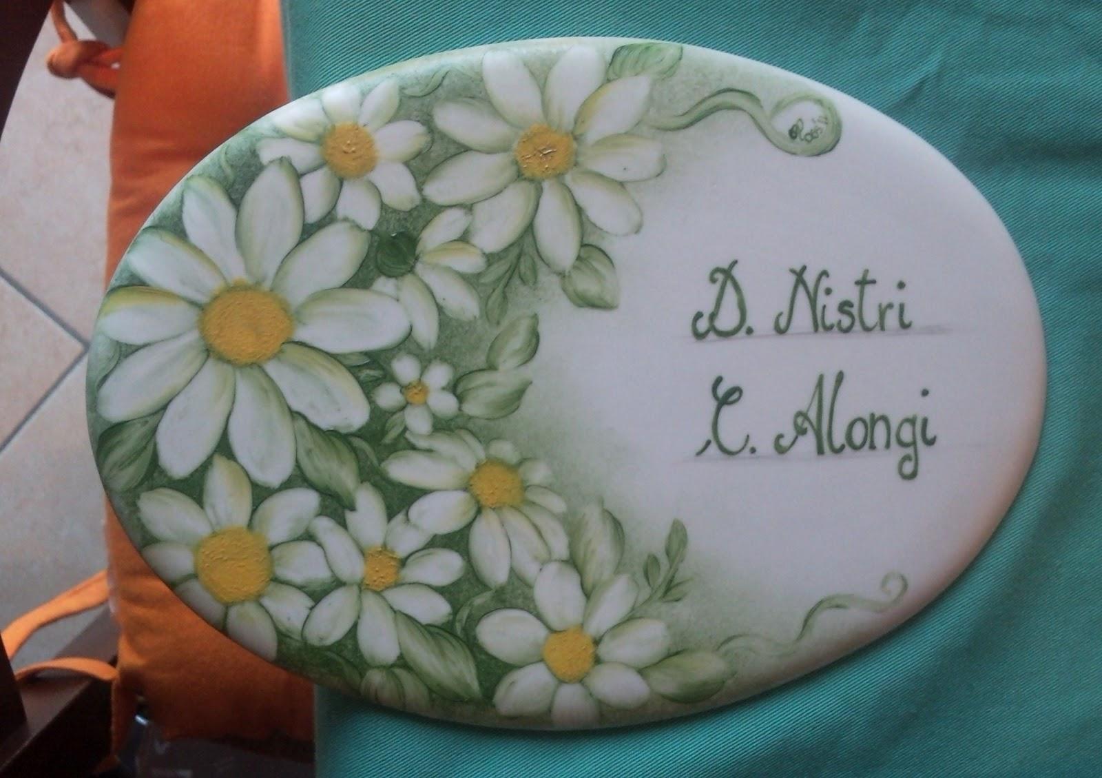 Targhette In Ceramica Per Porte.Targhette Personalizzate Creazioni Di Ross