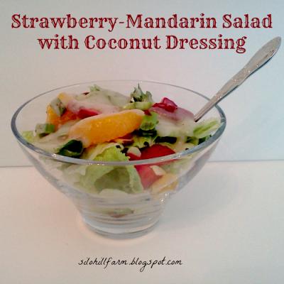 Strawberry-Mandarin Salad with Coconut Dressing