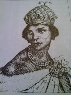 Imagen idealizada de la reina Anna Nzinga