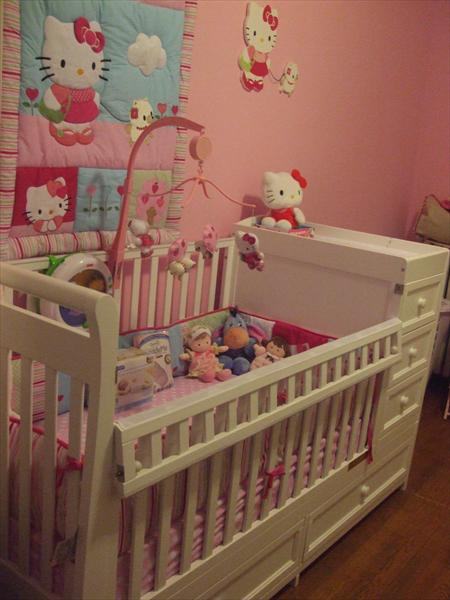 Hello Kitty Baby Nursery Decor - Colourful Bedroom Decorating Ideas