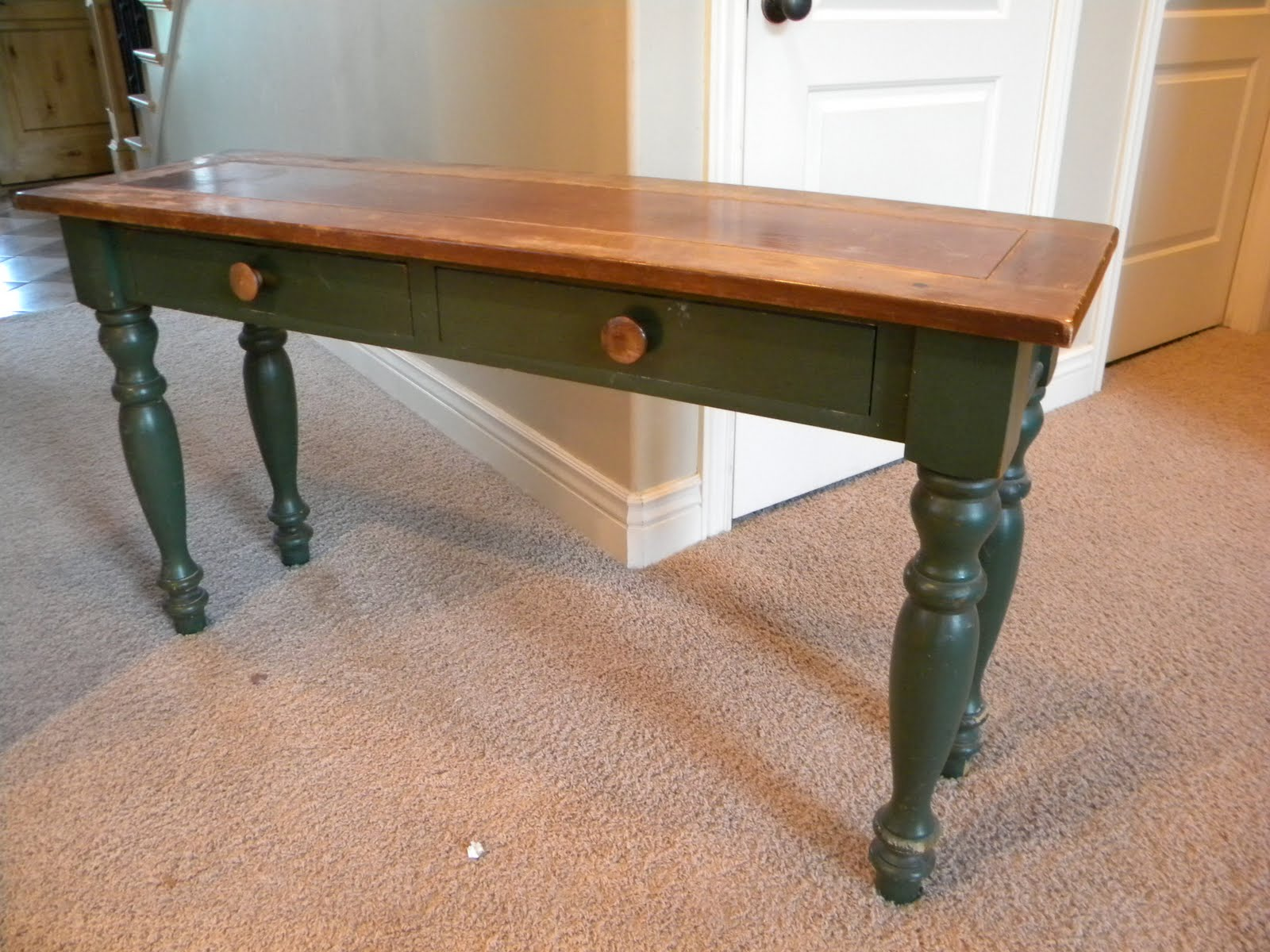 How to make a sofa table beyond the picket fence reclaimed for Sofa table tutorial