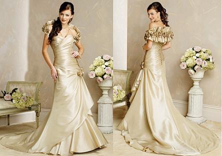 Wedding proposal wedding planning and tips june wedding for Gold vintage wedding dresses