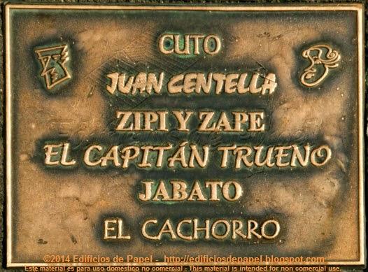El Capitán Trueno, Jabato y otros héroes recordados en la placa