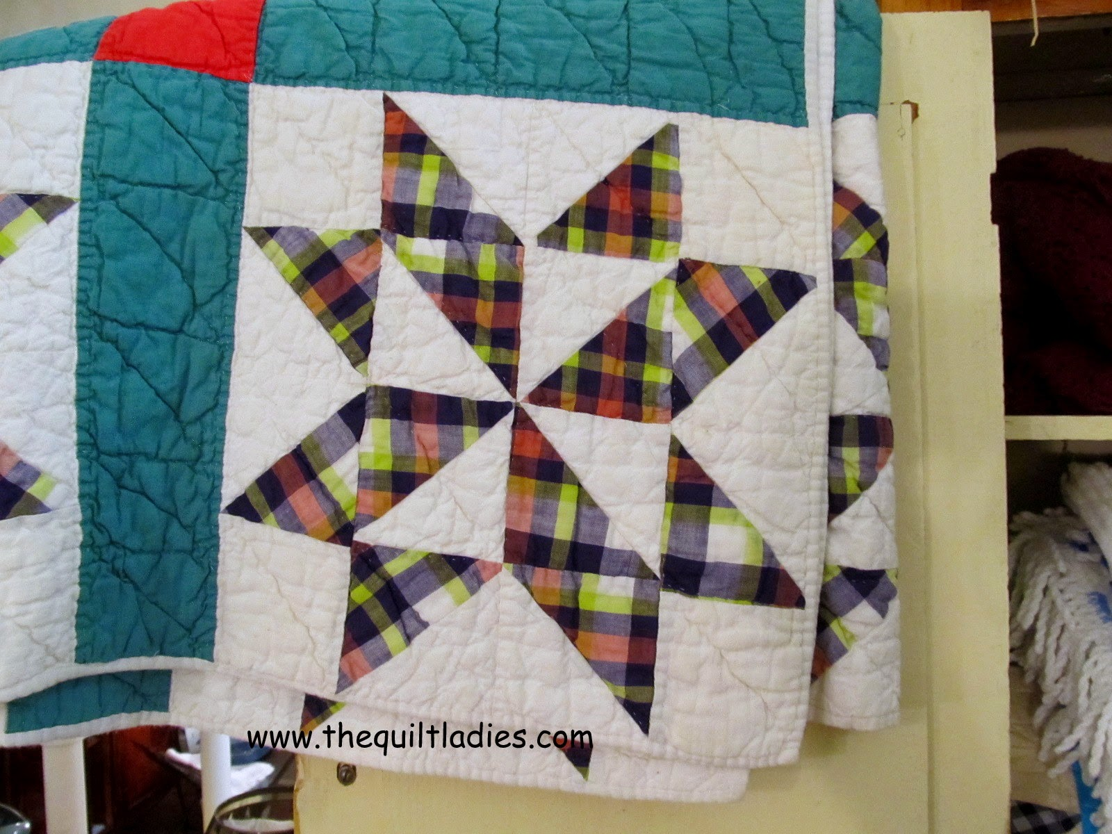 Quilt pattern Star Plaid