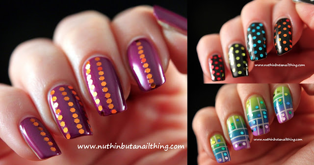 born pretty store glitter sequin gradient neon stripe nail art