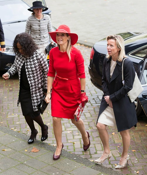 Chantiej Jansen, Queen Maxima of The Netherlands, Elvira Sweet and Kajsa Ollongren attend a symposium 40 years of the protection of women against domestic violence