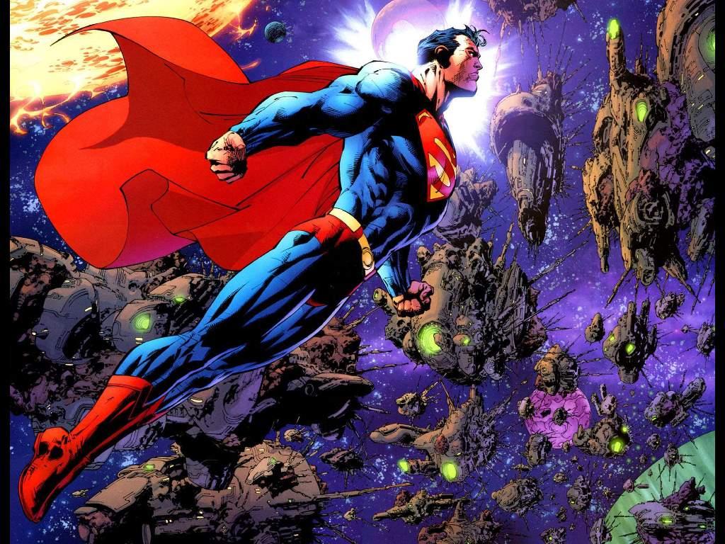 Superman Space Comic Wallpaper