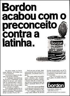 Bordon, 1972; os anos 70; propaganda na década de 70; Brazil in the 70s, história anos 70; Oswaldo Hernandez;