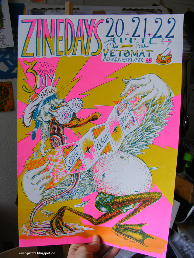 great zine days poster by anef