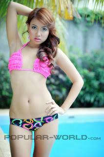 Agita Nugraha Model Hot BFN Majalah Popular World