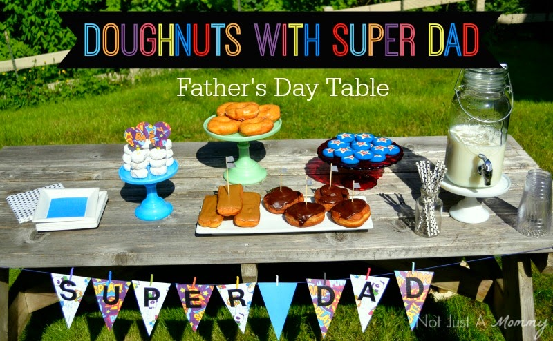 Doughnuts with Super Dad - Father's Day party /National Doughnut Day