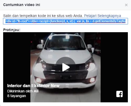 Cara Memasukkan Video Facebook ke Dalam Postingan Blog