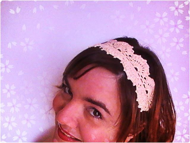 vintage crochet: diadema o cinta para el pelo
