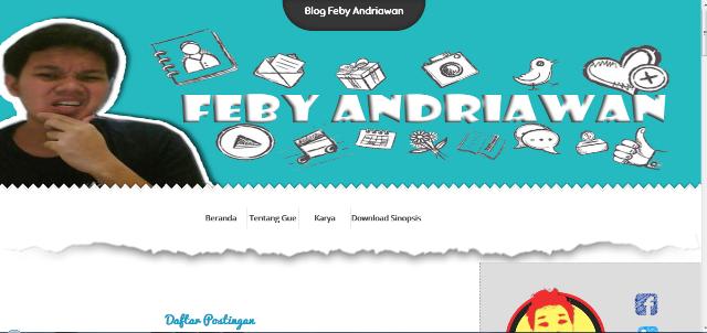 kreasi desain blog personal, jasa desain blogspot murah, kreasi desain blog febstories, blogazine desain blog personal