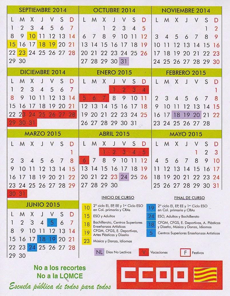 Calendario 14-15