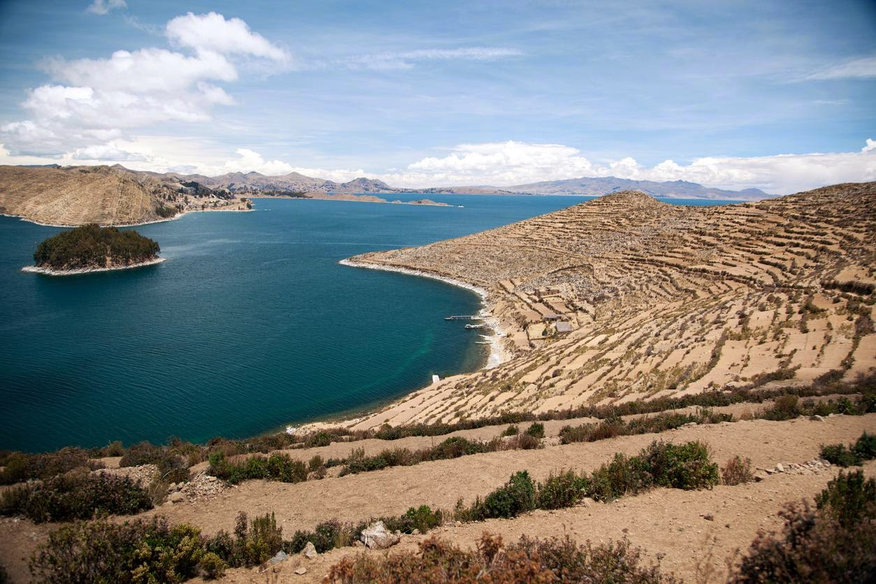 Lake Titicaca, with the Andes in the background. Credit Nicholas Gill