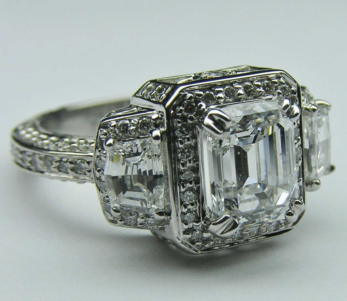 the great antique emerald cut engagement rings