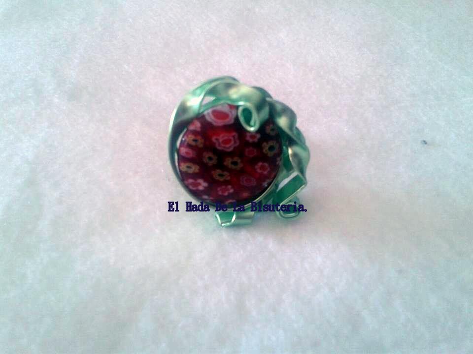 Anillo aluminio verde con cristal de murano 9 el hada de la bisuteria - Anillo cristal murano ...
