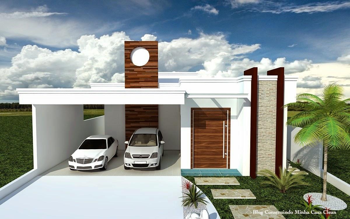 Construindo minha casa clean fachadas de casas modernas for Casas de modernas