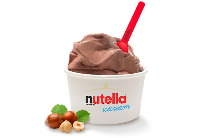 nutella icecream: la novità di ferrero