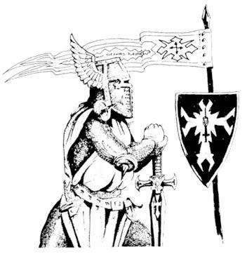 Uniforme, estandarte y heráldica de los Caballeros de Origo