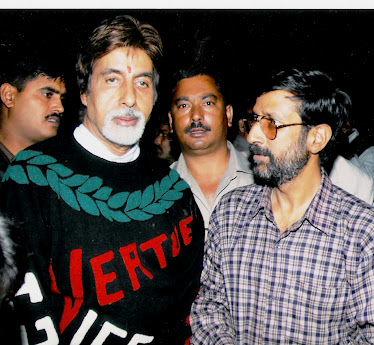 Rajen Todariya with Amitabh Bachchan in Shimla