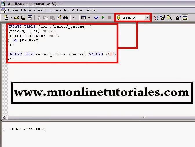 Ejecutando querry en el analizador de consultas del SQL