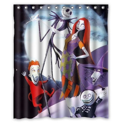 i figured the last shower curtain should be absolutely perfect the colorful nightmare before christmas shower curtain measures to be 60w x 72h and is