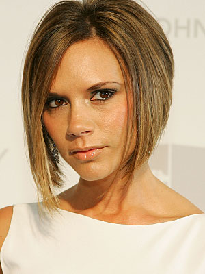 victoria beckhams hairstyle. eckham haircut ack view,