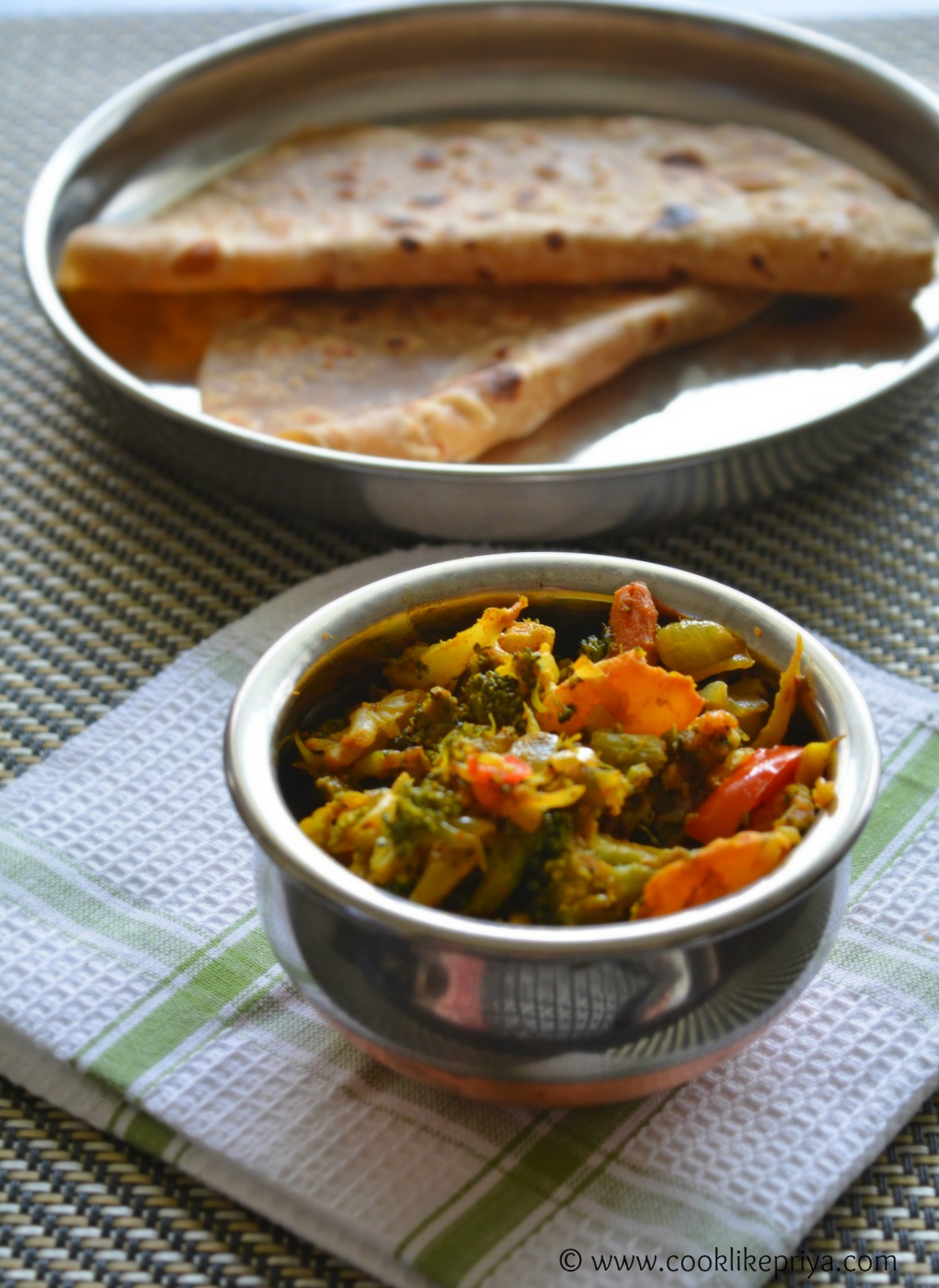 Easy mixed vegetable side dish for chapathi