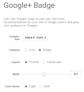 Add Google Plus Badge