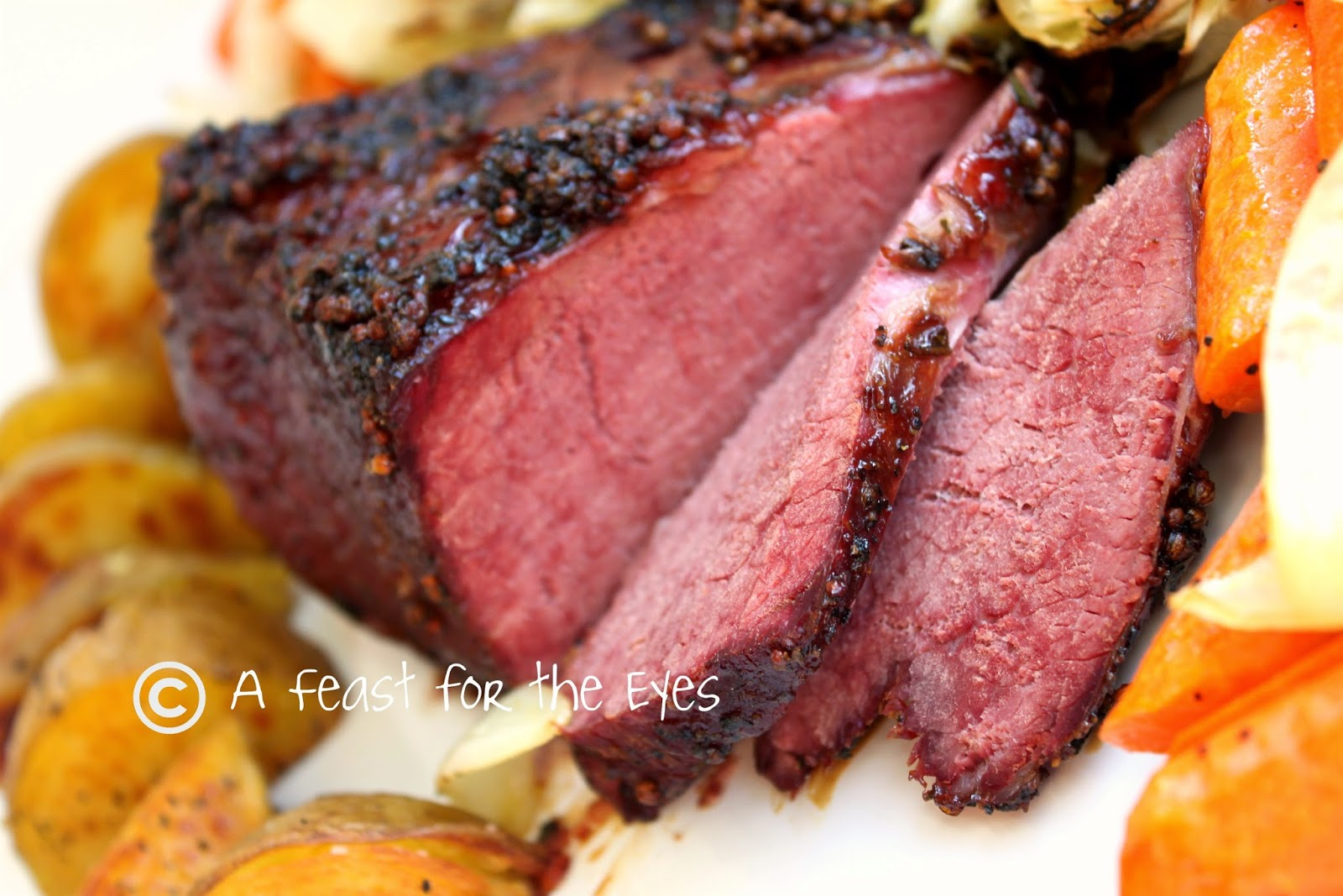 ... Roasted Corned Beef with a Bourbon Molasses Glaze and Balsamic Glazed
