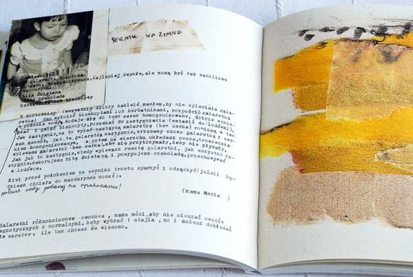 Wnętrze książki, przepis na sernik na zimno