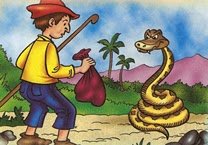 Fábula el Hombre y la Culebra, fábulas para niños con moraleja